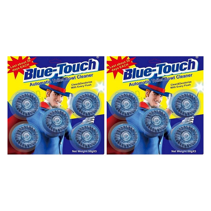 Bộ 2 vỉ viên tẩy và khử mùi bồn cầu Blue-Touch (2 vỉ 10 viên) - 1153735 , 8290799917999 , 62_4539481 , 134000 , Bo-2-vi-vien-tay-va-khu-mui-bon-cau-Blue-Touch-2-vi-10-vien-62_4539481 , tiki.vn , Bộ 2 vỉ viên tẩy và khử mùi bồn cầu Blue-Touch (2 vỉ 10 viên)