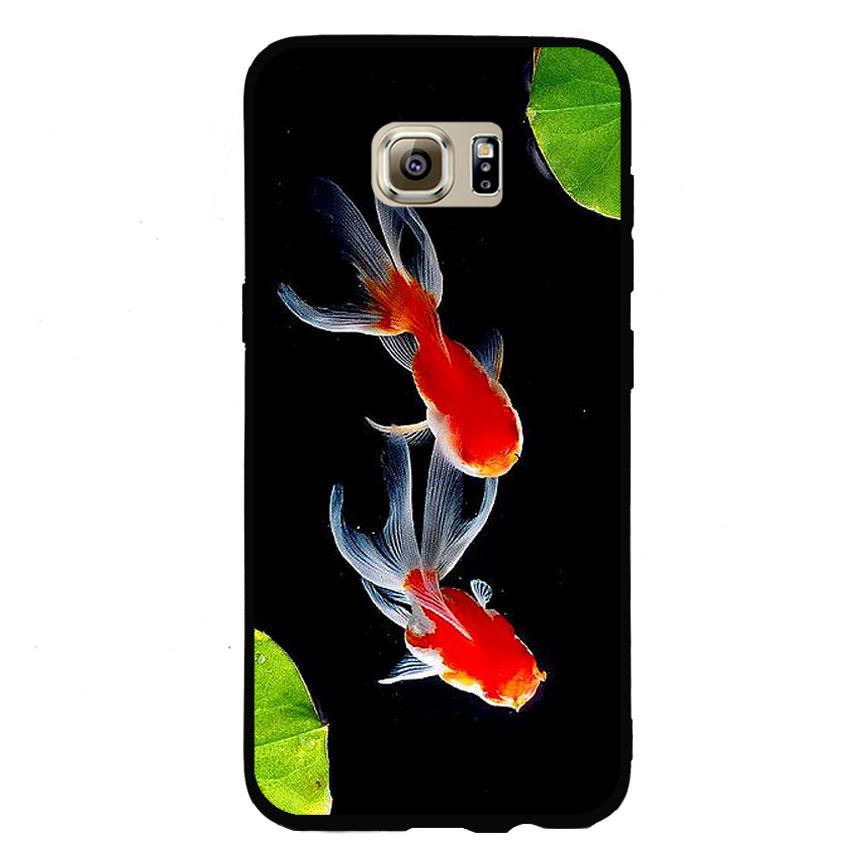 Ốp lưng nhựa cứng viền dẻo TPU cho điện thoại Samsung Galaxy S7 Edge - Cá Koi 03