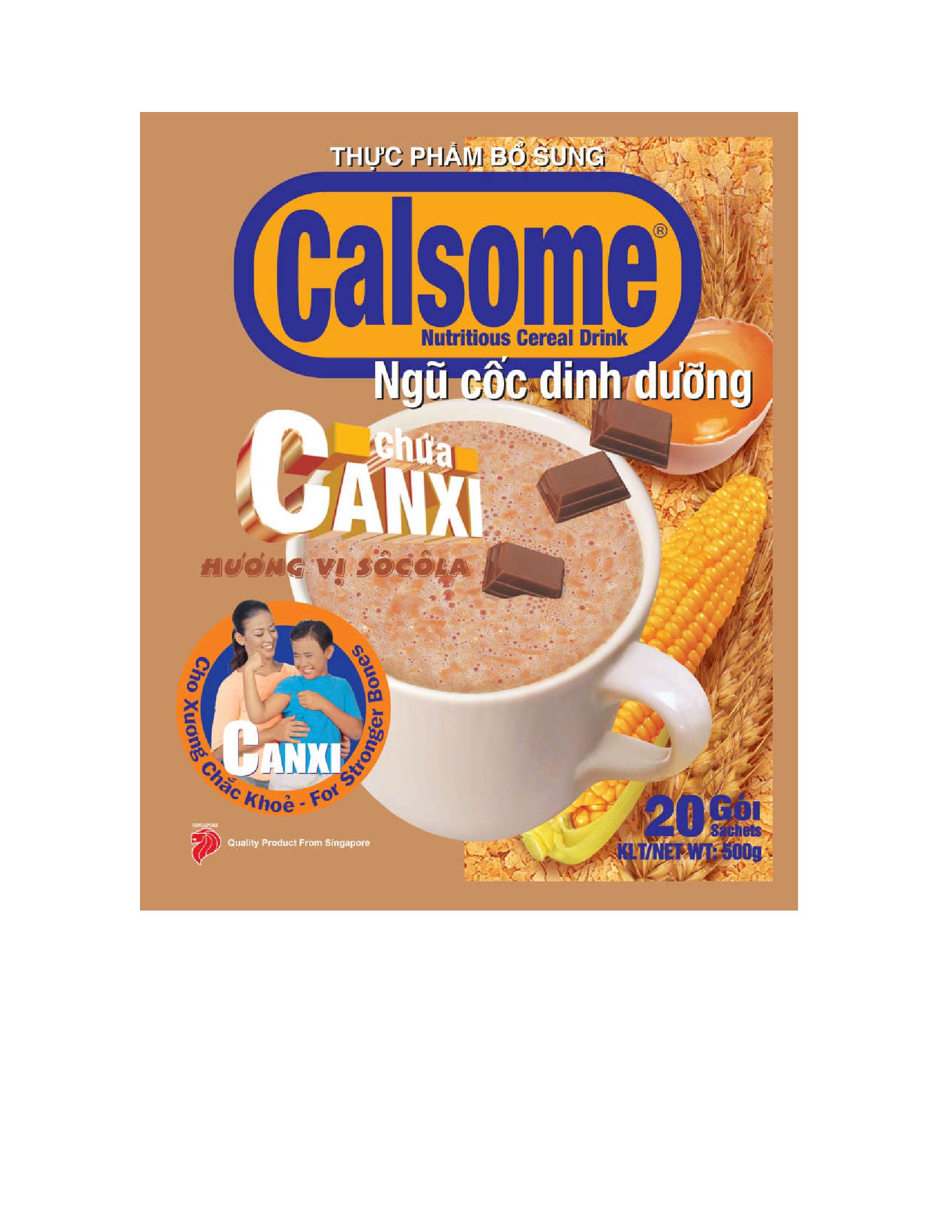 Bột ngũ cốc dinh dưỡng Calsome hương Sô cô la - 918715 , 5460240407505 , 62_1820323 , 60000 , Bot-ngu-coc-dinh-duong-Calsome-huong-So-co-la-62_1820323 , tiki.vn , Bột ngũ cốc dinh dưỡng Calsome hương Sô cô la