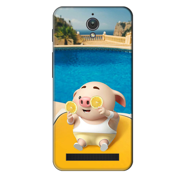 Ốp lưng nhựa cứng nhám dành cho Asus Zenfone C in hình Heo Tắm Bể Bơi