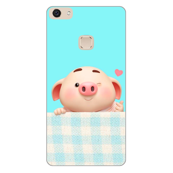 Ốp lưng dành cho điện thoại Vivo V7 - V7 PLUS - Y83 - Pig Cute 07