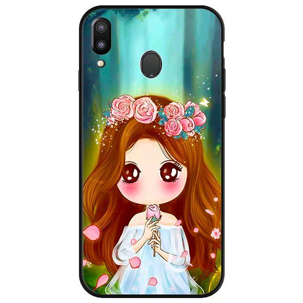 Ốp lưng dành cho điện thoại Samsung Galaxy M20 - Anime Cô Gái Cầm Hoa Hồng