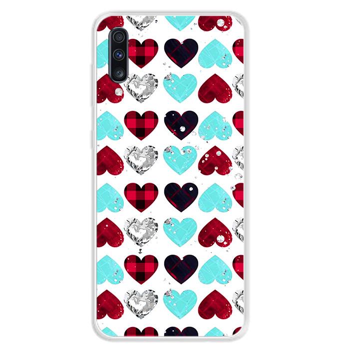 Ốp lưng dẻo cho điện thoại Samsung Galaxy A70 - 0099 HEART07 - Hàng Chính Hãng
