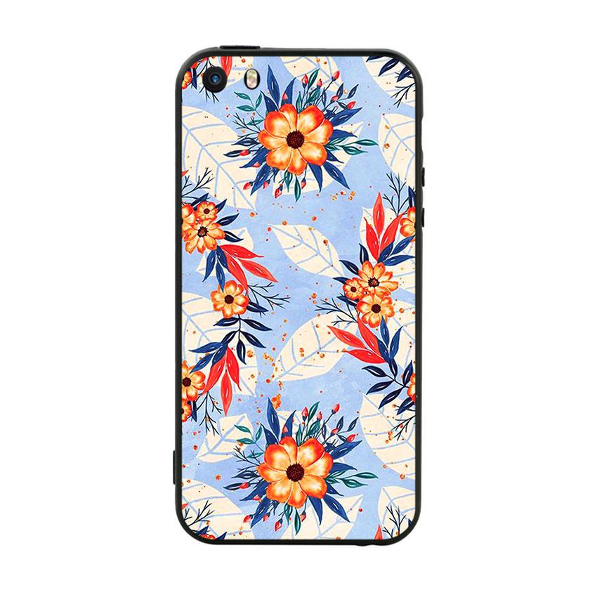 Ốp lưng viền TPU cho điện thoại Iphone 5 - Flower 16