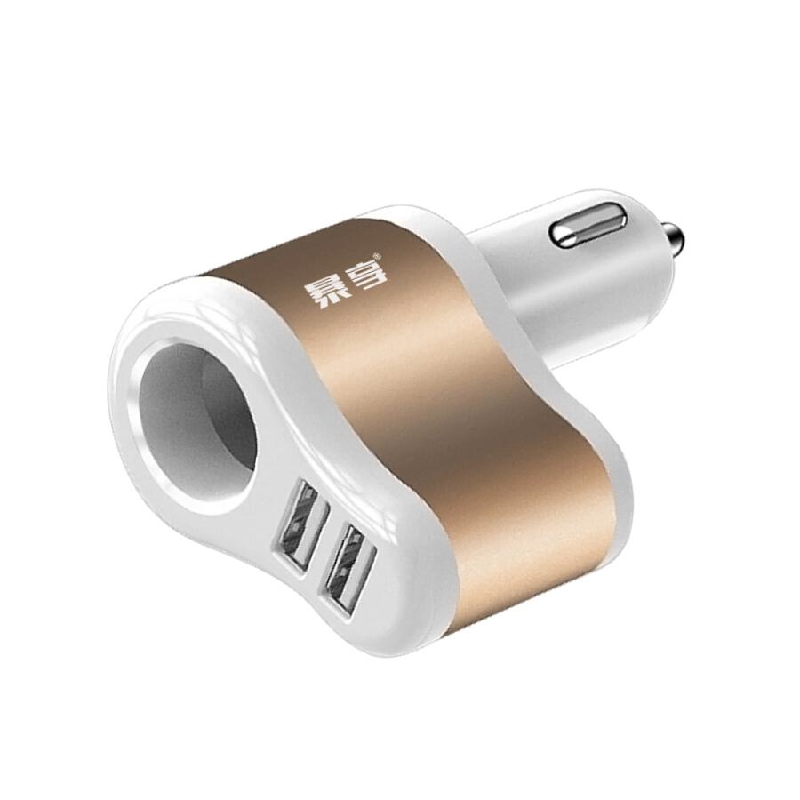 Sạc Trên Xe Hơi Hai Cổng USB 3.1A Đa Năng Hai Trong Một