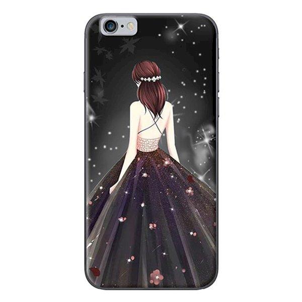 Ốp Lưng Dành Cho iPhone 6/ 6S Cô Gái Váy Đen Áo Dây