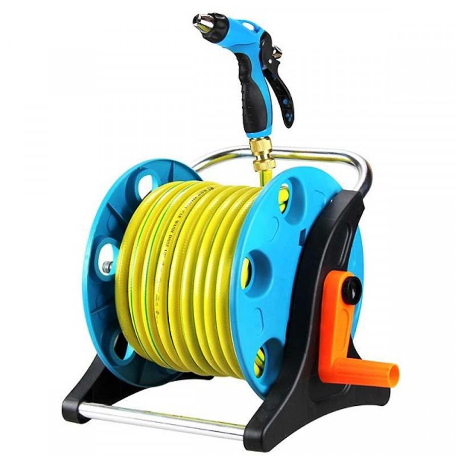 Vòi cuộn 15m - Vòi nước nhiều chế độ phun, có thể tưới cây, rửa xe,... có trục cuộn gọn sau khi sử dụng