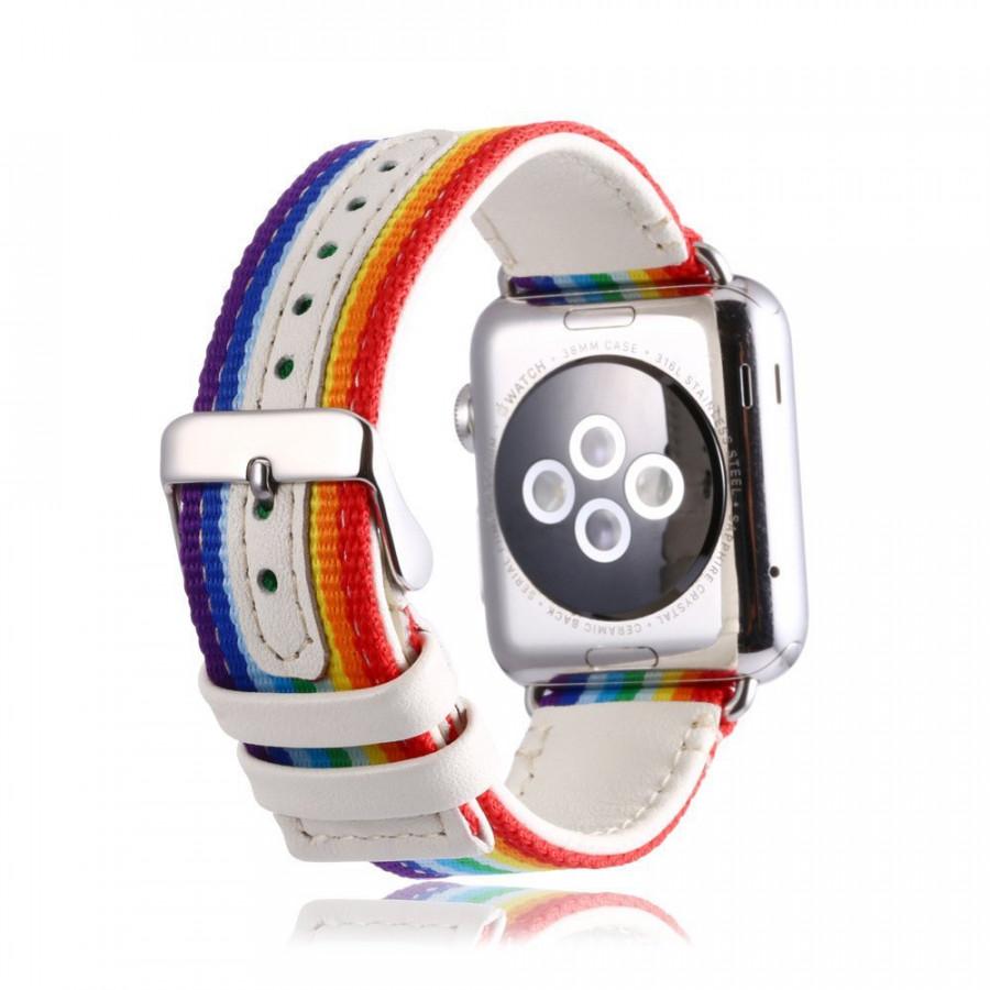 Dây da phối vải cho Apple Watch 38mm / 40mm hiệu Kakapi vân GCthời trang sang trọng - Hàng chính hãng - 2322410 , 9565723891522 , 62_14978232 , 500000 , Day-da-phoi-vai-cho-Apple-Watch-38mm--40mm-hieu-Kakapi-van-GCthoi-trang-sang-trong-Hang-chinh-hang-62_14978232 , tiki.vn , Dây da phối vải cho Apple Watch 38mm / 40mm hiệu Kakapi vân GCthời trang sang