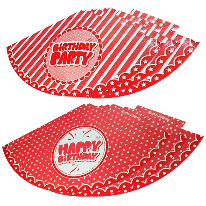 6 nón sinh nhật màu đỏ