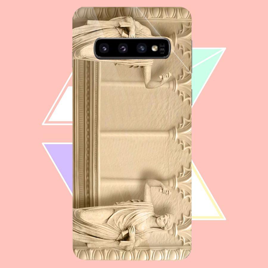 Ốp kính cường lực cho điện thoại Samsung Galaxy S10 Plus - hình Điêu Khắc MS DKHAC027 - Hàng Chính Hãng