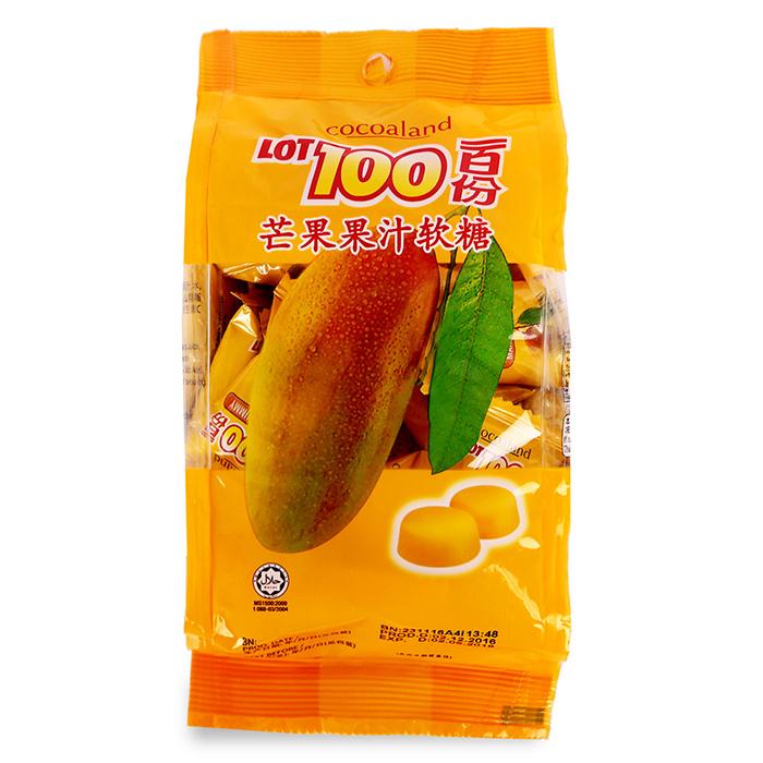 Kẹo Dẻo Hương Xoài Lot 100 Cocoaland (150g)