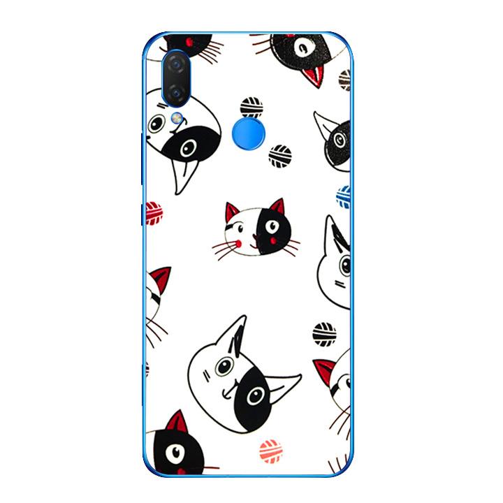 Ốp lưng dẻo cho điện thoại Huawei Y9 2019 - Kute Cat 02