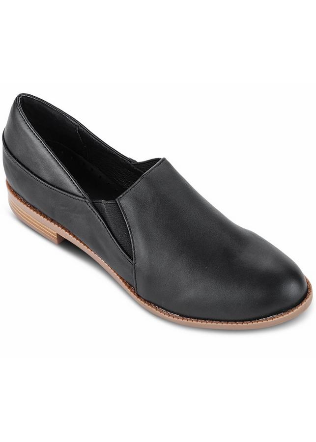 Giày Mọi Da Nữ - Đen