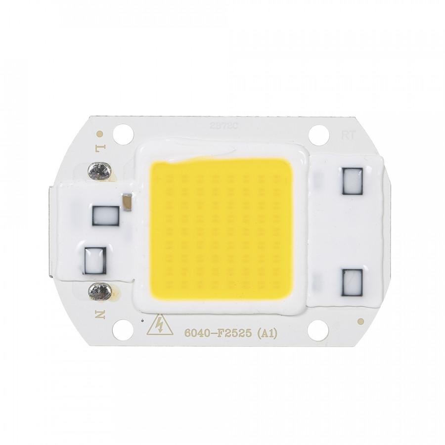 50W AC COB Cast Light Warm White Light Engine 3000K Color Temperature 220V Driver-free LED Light Source Aluminum