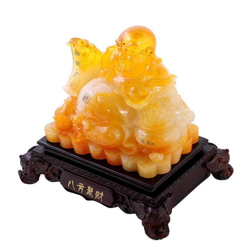 Tượng Phật Di Lặc phong thủy đá ngọc phát lộc phát phúc Mã A1