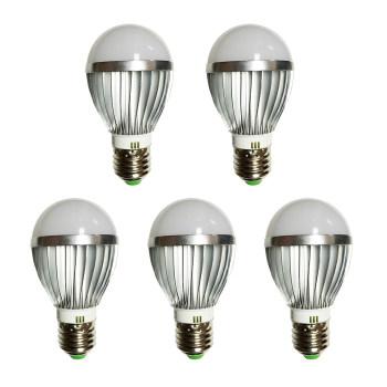 Đèn LED búp nhôm tiết kiệm điện 5W bộ 5 cái (sáng trắng)