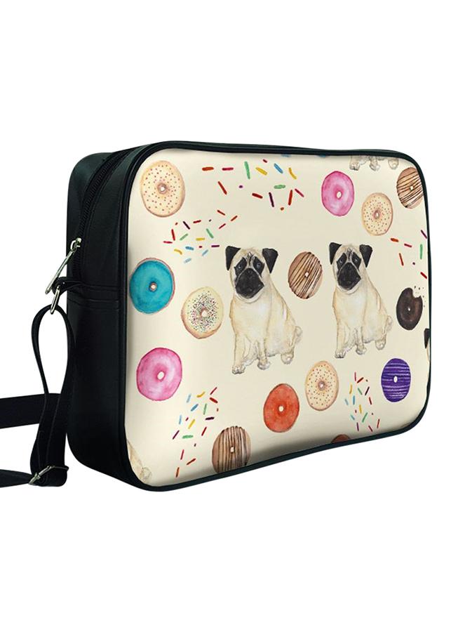 Túi Chéo Hộp Chó Pug Và Donut - TCHT064