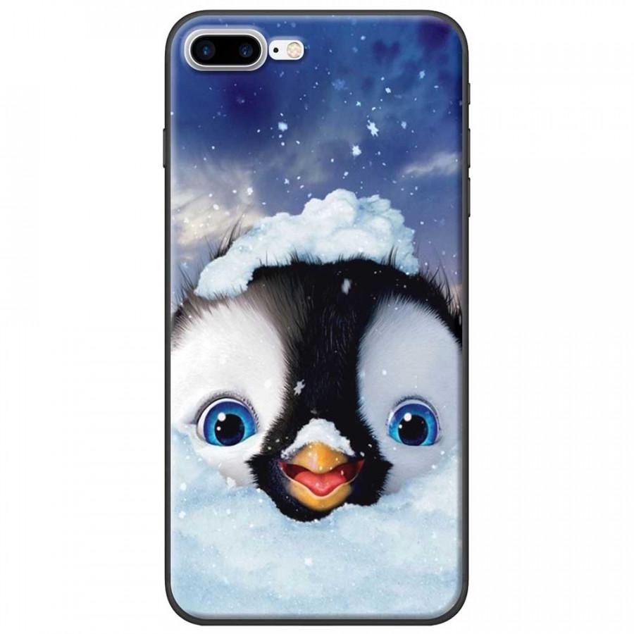 Ốp lưng dành cho iPhone 7 Plus mẫu Cánh cụt tuyết