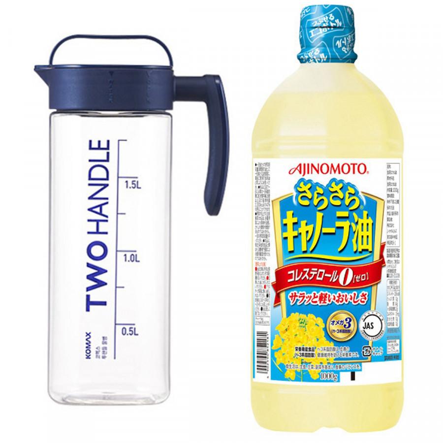 Combo Bình Tritan đựng nước Komax Two Handle chịu nhiệt 2L + Dầu hạt cải nguyên chất 1L nội địa Nhật Bản - 1863037 , 1501957156233 , 62_14135961 , 470000 , Combo-Binh-Tritan-dung-nuoc-Komax-Two-Handle-chiu-nhiet-2L-Dau-hat-cai-nguyen-chat-1L-noi-dia-Nhat-Ban-62_14135961 , tiki.vn , Combo Bình Tritan đựng nước Komax Two Handle chịu nhiệt 2L + Dầu hạt cải n