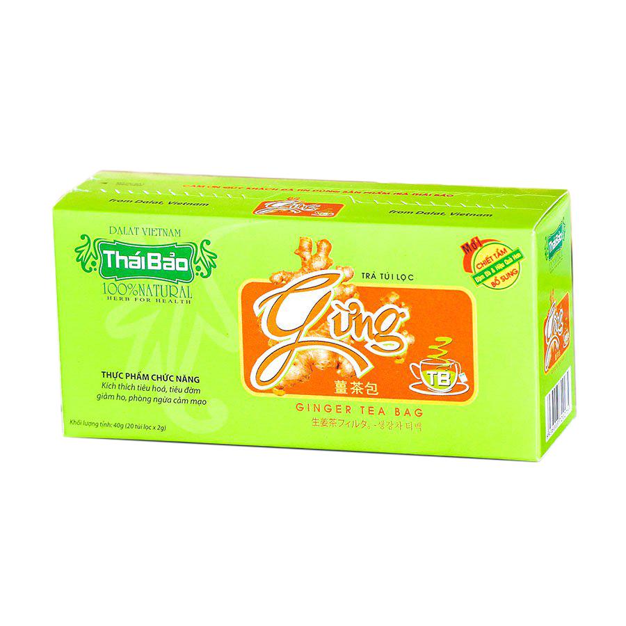 Hộp Trà Gừng Túi Lọc Thái Bảo mẫu xanh (20 Tép x 2g) - 1759511 , 7766211865045 , 62_12442955 , 22000 , Hop-Tra-Gung-Tui-Loc-Thai-Bao-mau-xanh-20-Tep-x-2g-62_12442955 , tiki.vn , Hộp Trà Gừng Túi Lọc Thái Bảo mẫu xanh (20 Tép x 2g)