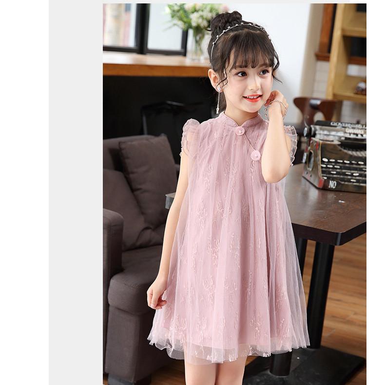 Đầm voan công chúa bé gái