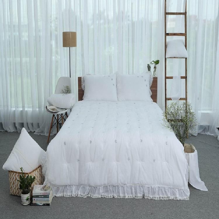 Chăn thu đông thiết kế thêu 100% cotton - linen Grand - Trắng - 5049020 , 7477757743888 , 62_15666524 , 1345000 , Chan-thu-dong-thiet-ke-theu-100Phan-Tram-cotton-linen-Grand-Trang-62_15666524 , tiki.vn , Chăn thu đông thiết kế thêu 100% cotton - linen Grand - Trắng