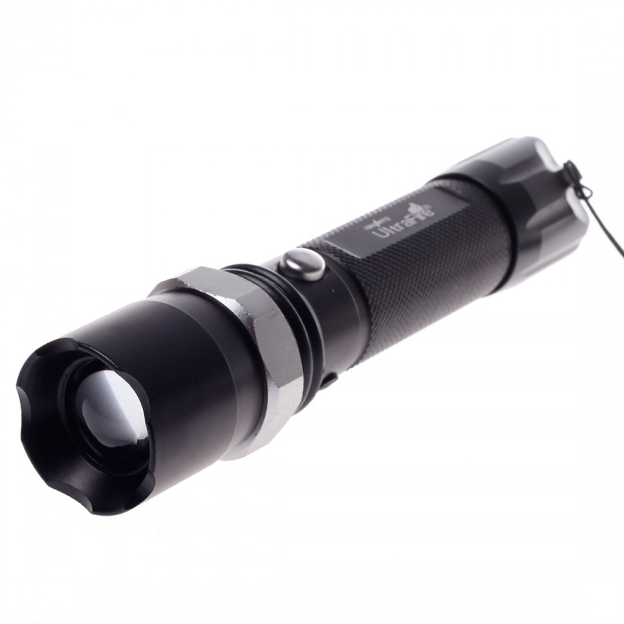 Yao Hao High Beam Long Range Flashlight With Charger 801 (Euro Power Supply) Black