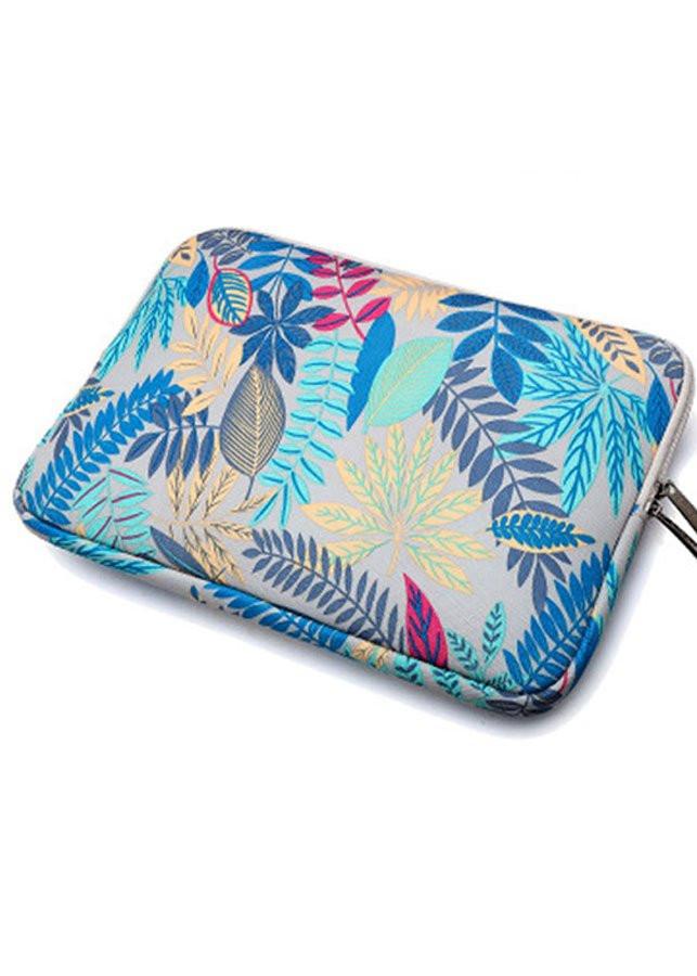 Túi chống sốc laptop 13 inch họa tiết hoa văn ( Họa tiết xanh nhạt)