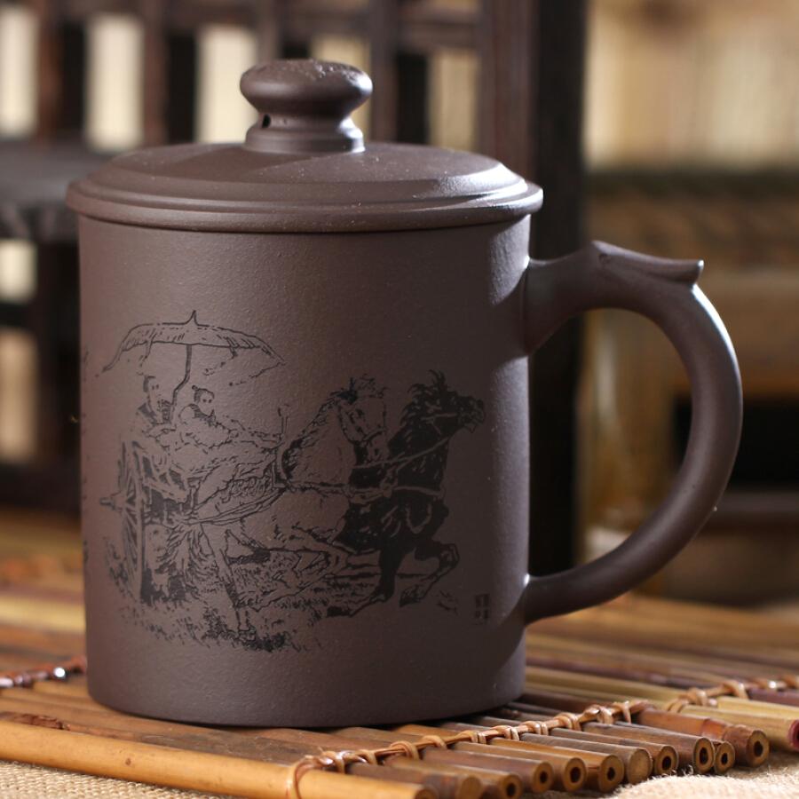 [Jingdong supermarket] tea tea Friends of tea cups Yixing Zisha Cup bubble cup Purple East to 500ml