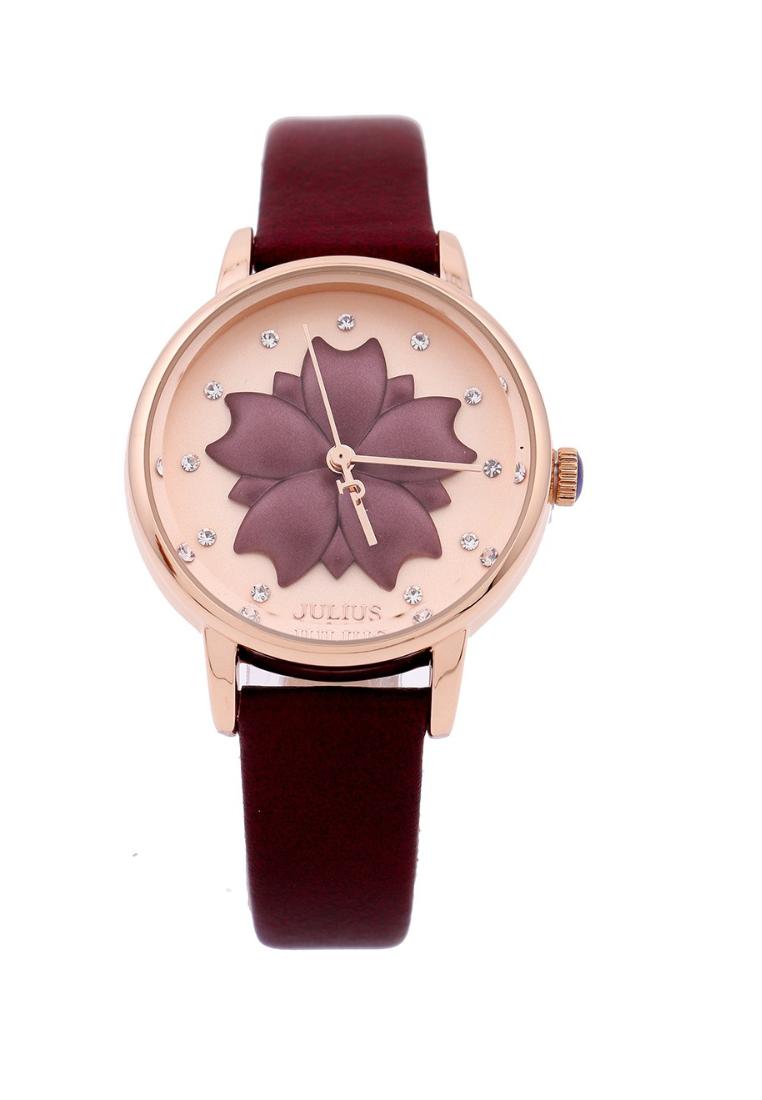 Đồng hồ Nữ Julius Hàn Quốc Ja-1000 Đỏ Nâu