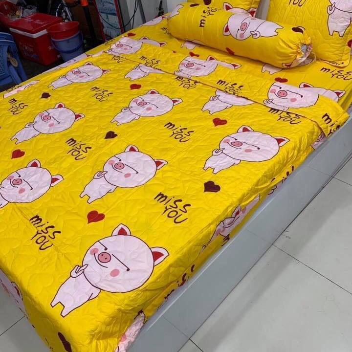 Trọn Bộ Chăn Ga Gối Cottong Poly Hè Thu 5 Món Lợn Vàng - 9913918 , 7504394992697 , 62_19854263 , 599000 , Tron-Bo-Chan-Ga-Goi-Cottong-Poly-He-Thu-5-Mon-Lon-Vang-62_19854263 , tiki.vn , Trọn Bộ Chăn Ga Gối Cottong Poly Hè Thu 5 Món Lợn Vàng