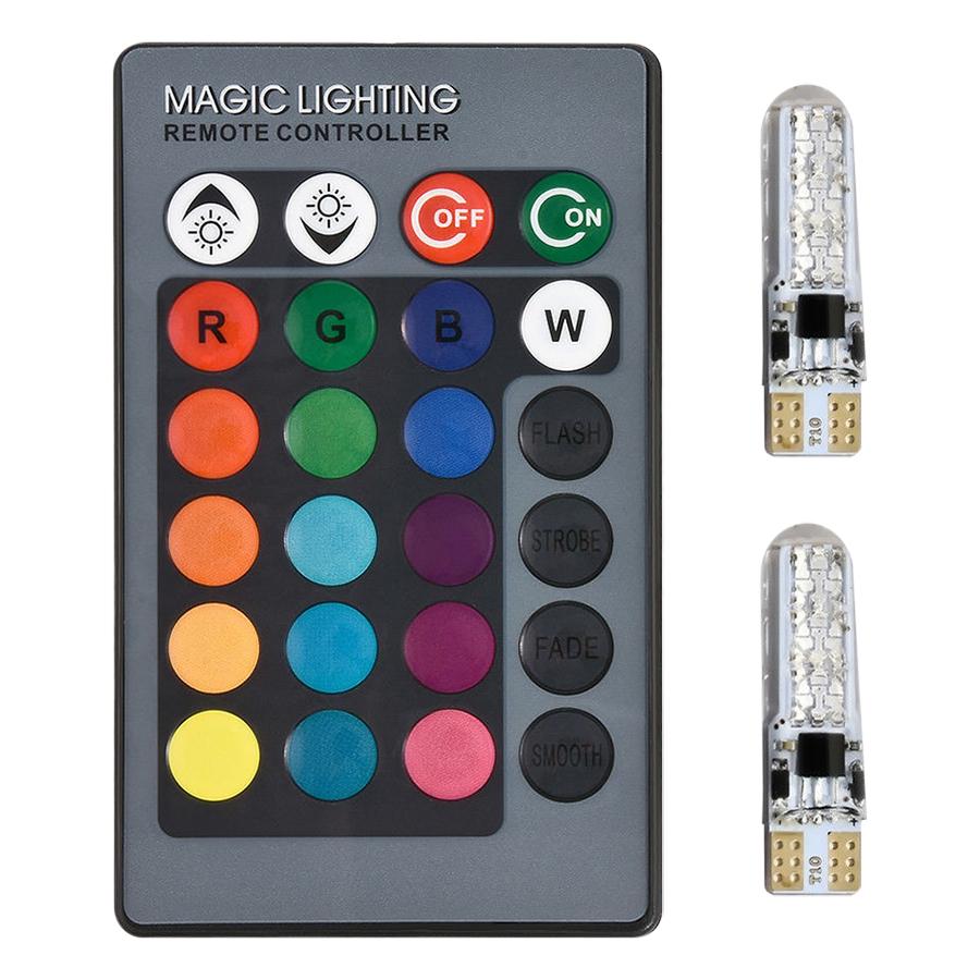 Car Wedge Light Car Side Light Bright T10 RGB Beads Stop Light - 1769824 , 8956643088535 , 62_12560539 , 272000 , Car-Wedge-Light-Car-Side-Light-Bright-T10-RGB-Beads-Stop-Light-62_12560539 , tiki.vn , Car Wedge Light Car Side Light Bright T10 RGB Beads Stop Light