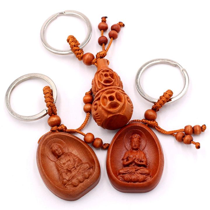 Combo 3 móc khóa Phật A Di Đà - Đại Nhật Như Lai - Hồ Lô - bình an, may mắn