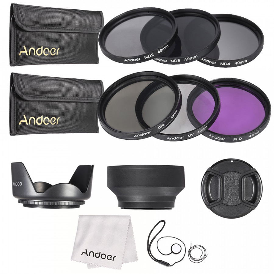 Andoer 49mm Lens Filter Kit UV+CPL+FLD+ND(ND2 ND4 ND8) with Carry Pouch / Lens Cap / Lens Cap Holder / Tulip  Rubber - 1882333 , 3028440544103 , 62_14369042 , 532000 , Andoer-49mm-Lens-Filter-Kit-UVCPLFLDNDND2-ND4-ND8-with-Carry-Pouch--Lens-Cap--Lens-Cap-Holder--Tulip-Rubber-62_14369042 , tiki.vn , Andoer 49mm Lens Filter Kit UV+CPL+FLD+ND(ND2 ND4 ND8) with Carry Pou