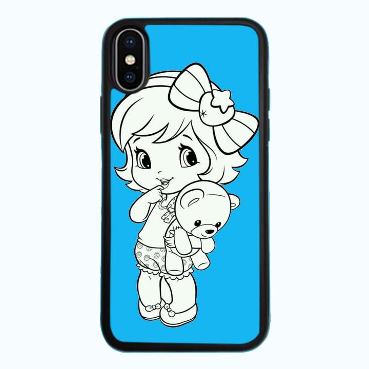 Ốp Lưng Kính Cường Lực Dành Cho Điện Thoại iPhone X Baby Strawberry Mẫu 1