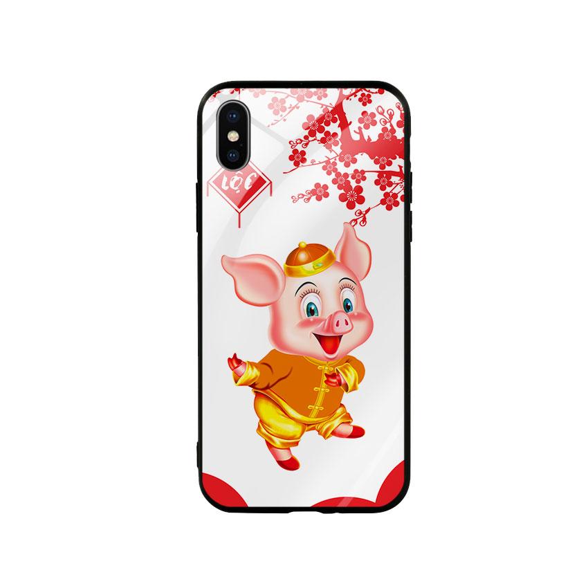 Ốp Lưng Kính Cường Lực cho điện thoại Iphone X / Xs - Pig 2019