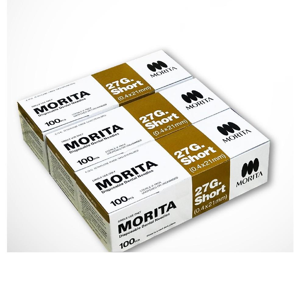 Combo 3 hộp tặng 1 hộp kim tiêm tê Morita cho người lớn 27G dành riêng cho nha khoa