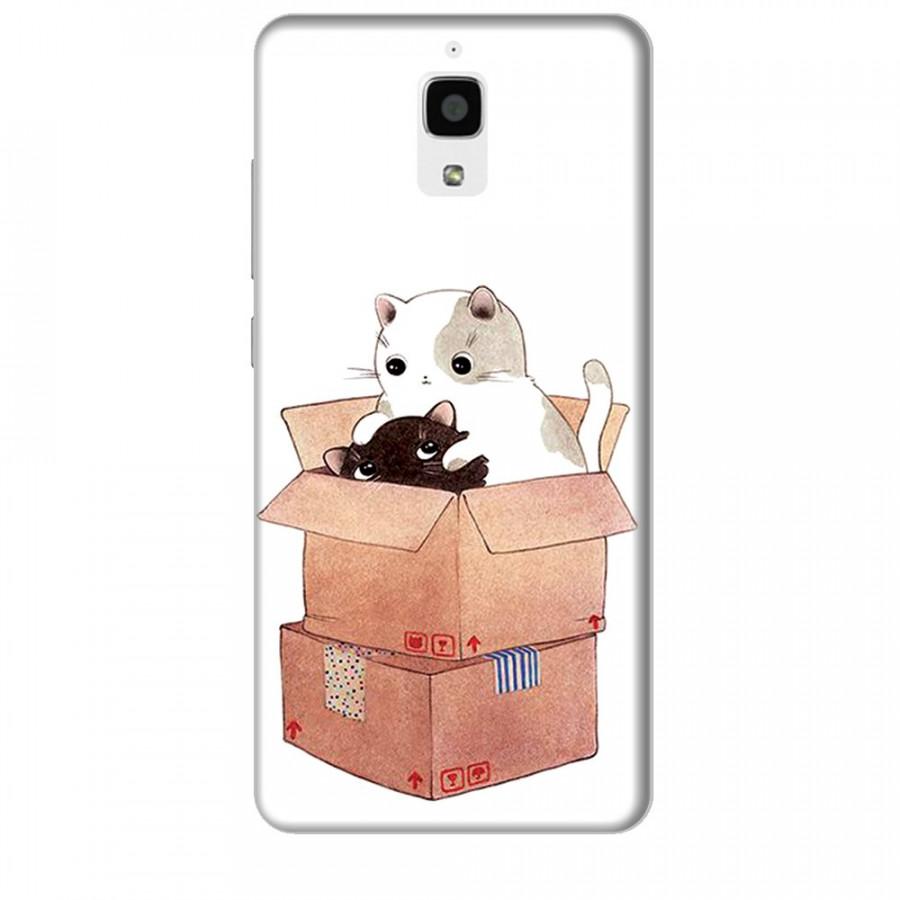 Ốp lưng dành cho điện thoại XIAOMI MI 4 Mèo Con Dễ Thương