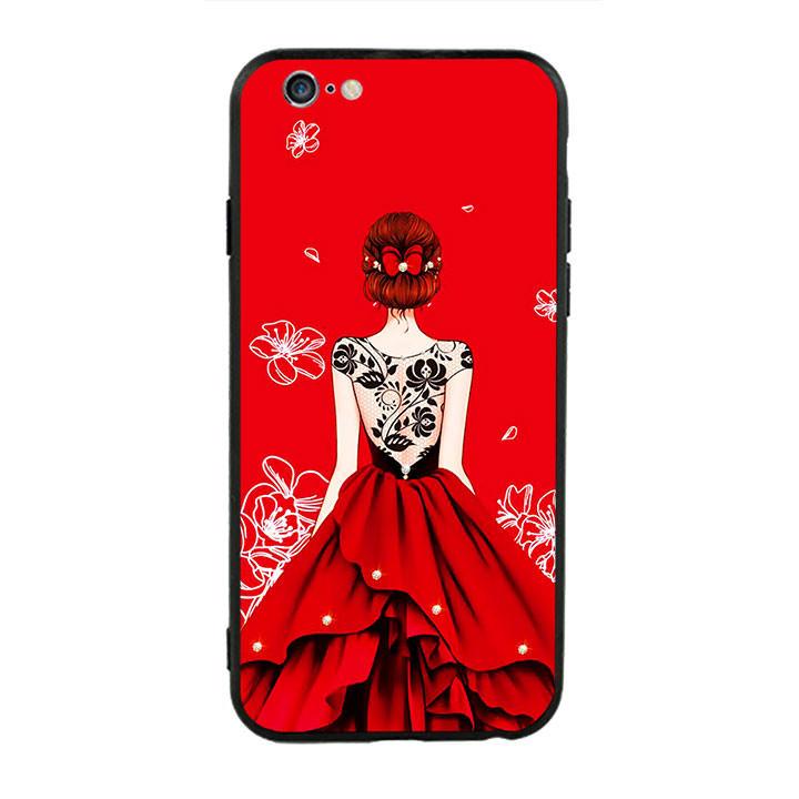 Ốp lưng nhựa cứng viền dẻo TPU cho điện thoại Iphone 6 Plus/6s Plus - Girl 05