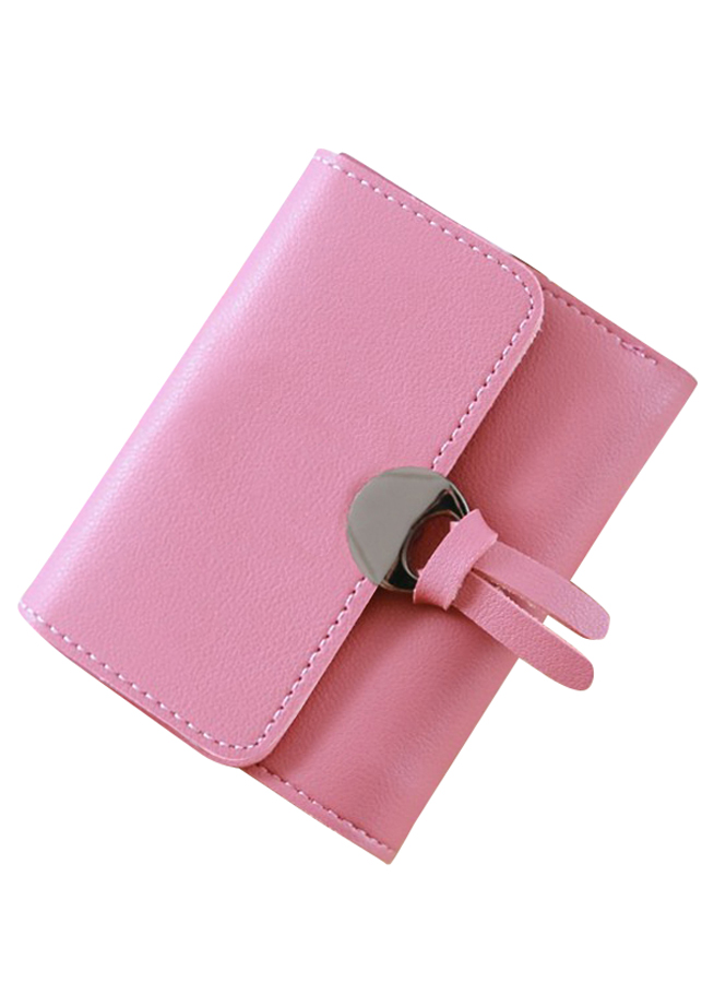Ví bóp ngắn nữ Nắp 2 dây đa chức năng tiện dụng Phiên bản Hàn Quốc
