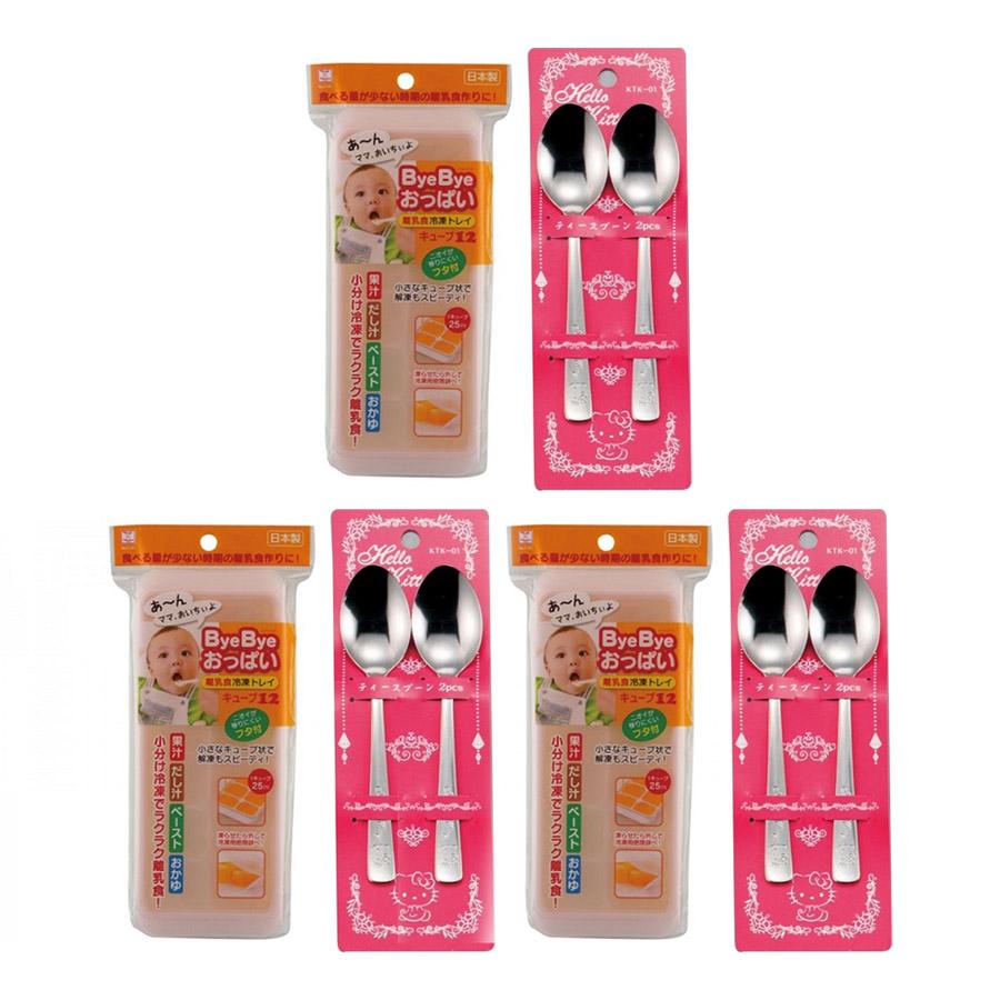 Combo Khay Đựng Đồ Ăn Dặm Cho Bé Có Nắp Đậy (12 Ngăn) + Set 2 Thìa Inox Hello Kitty Cho Bé - Nội Địa Nhật Bản - 7422522 , 1289584937417 , 62_11328087 , 660000 , Combo-Khay-Dung-Do-An-Dam-Cho-Be-Co-Nap-Day-12-Ngan-Set-2-Thia-Inox-Hello-Kitty-Cho-Be-Noi-Dia-Nhat-Ban-62_11328087 , tiki.vn , Combo Khay Đựng Đồ Ăn Dặm Cho Bé Có Nắp Đậy (12 Ngăn) + Set 2 Thìa Inox H