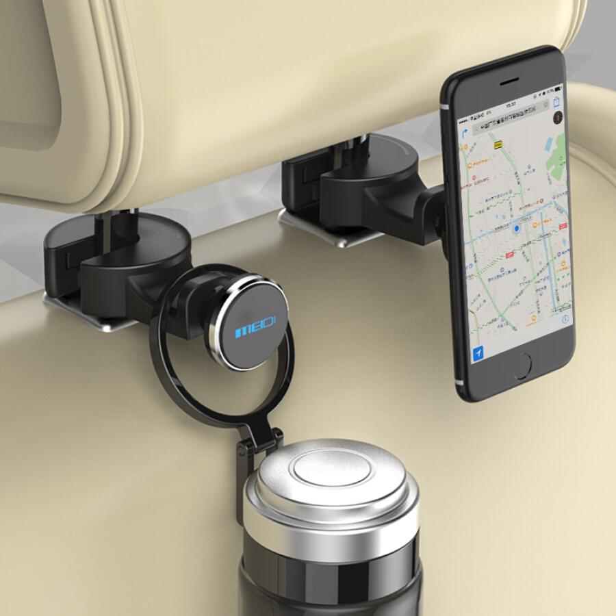 Charm di MEIDI car phone hook bracket rear seat convenient car hook bracket car seat back storage bracket 4017 silver