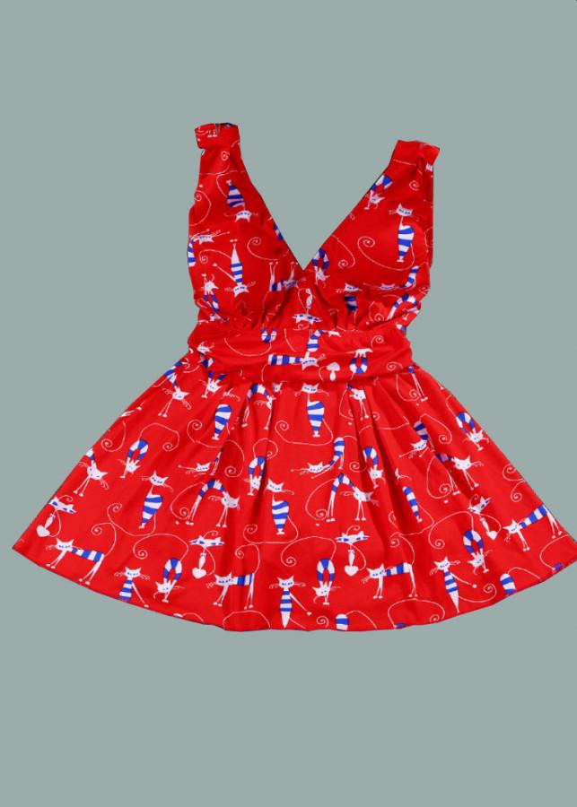 1153426477730 - Váy đầm nữ xòe đệm ngực dạo biển dáng ngắn  Morie Fashion (Nhiều màu - MÈO)
