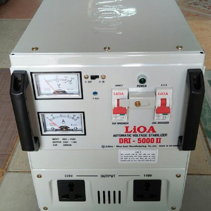 Ổn áp lioa 5kva model DRI - 5000II đời mới nhất dây đồng 100%