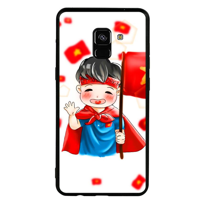 Ốp Lưng Viền TPU Cho Samsung Galaxy A8 2018 - U23 Mẫu 6