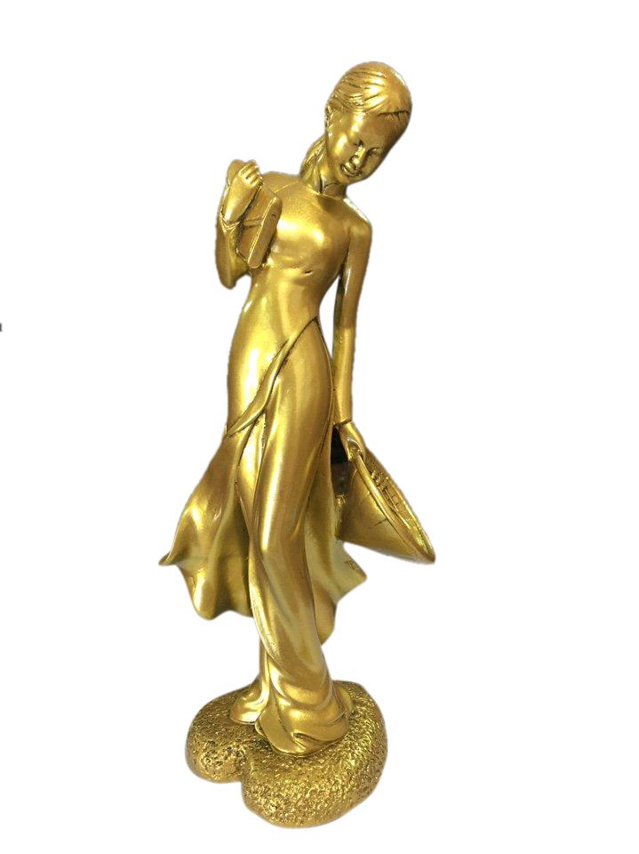 Tượng Đá Poly Cô Gái Nữ Sinh Lớn Ngô Đình Sanh N26