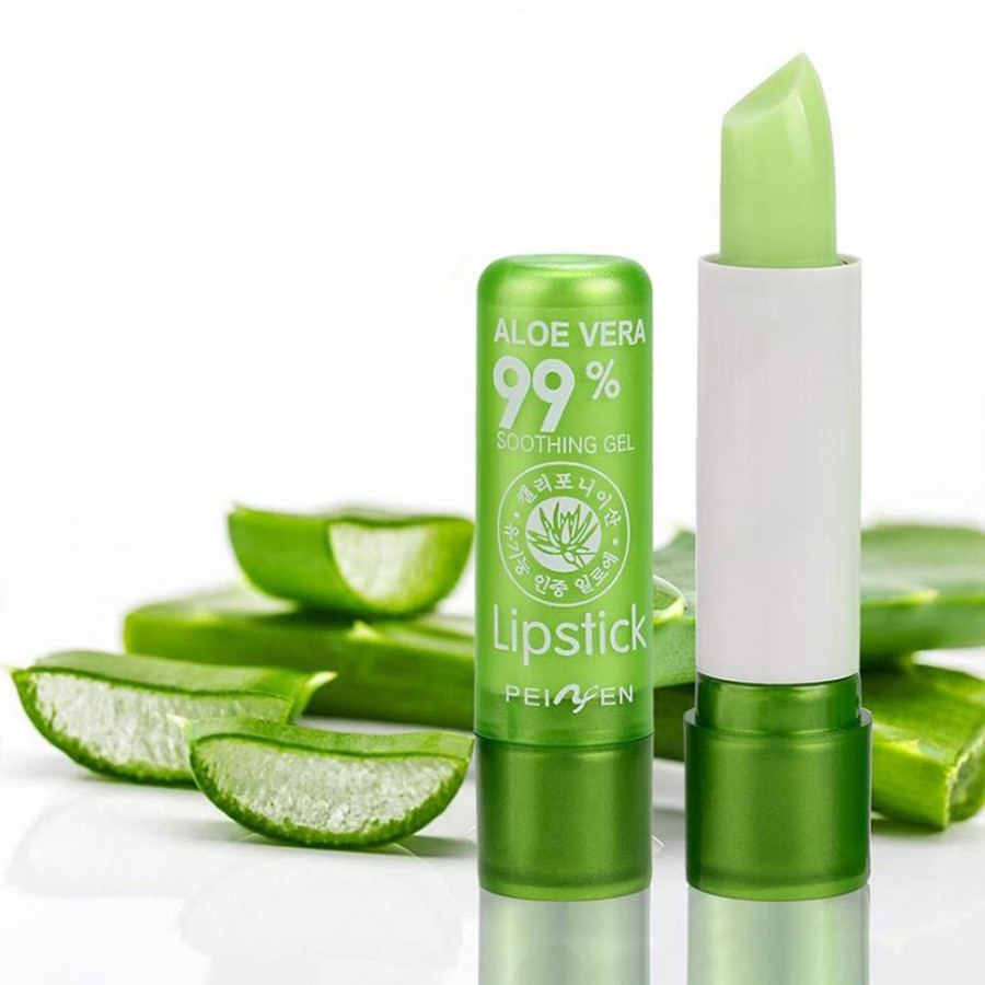 Magic Moisturizing Lip Stick Change Color Lipstick Green Paste Turn Into Pink Jelly Balm Makeup Beauty Gloss Cosmetic