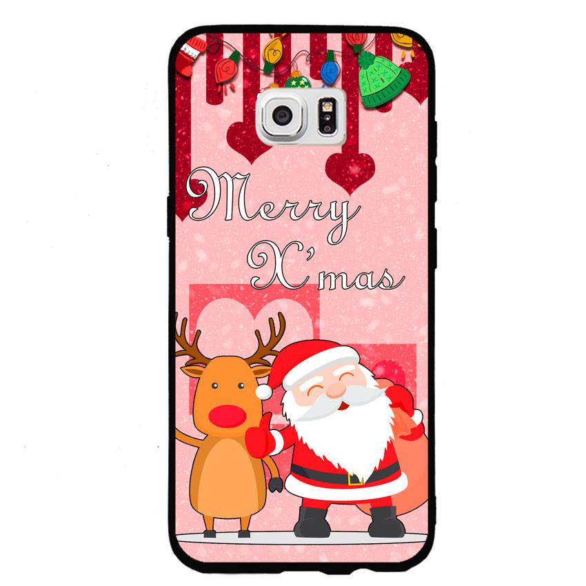 Ốp lưng viền TPU cho điện thoại Samsung Galaxy S7 - Xmas 04