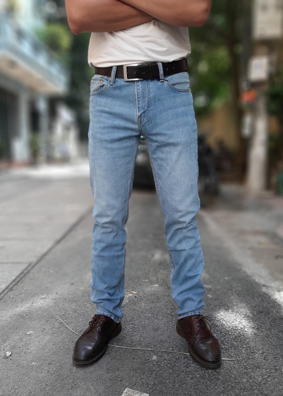Quần jeans nam LE511 màu Xanh Sáng