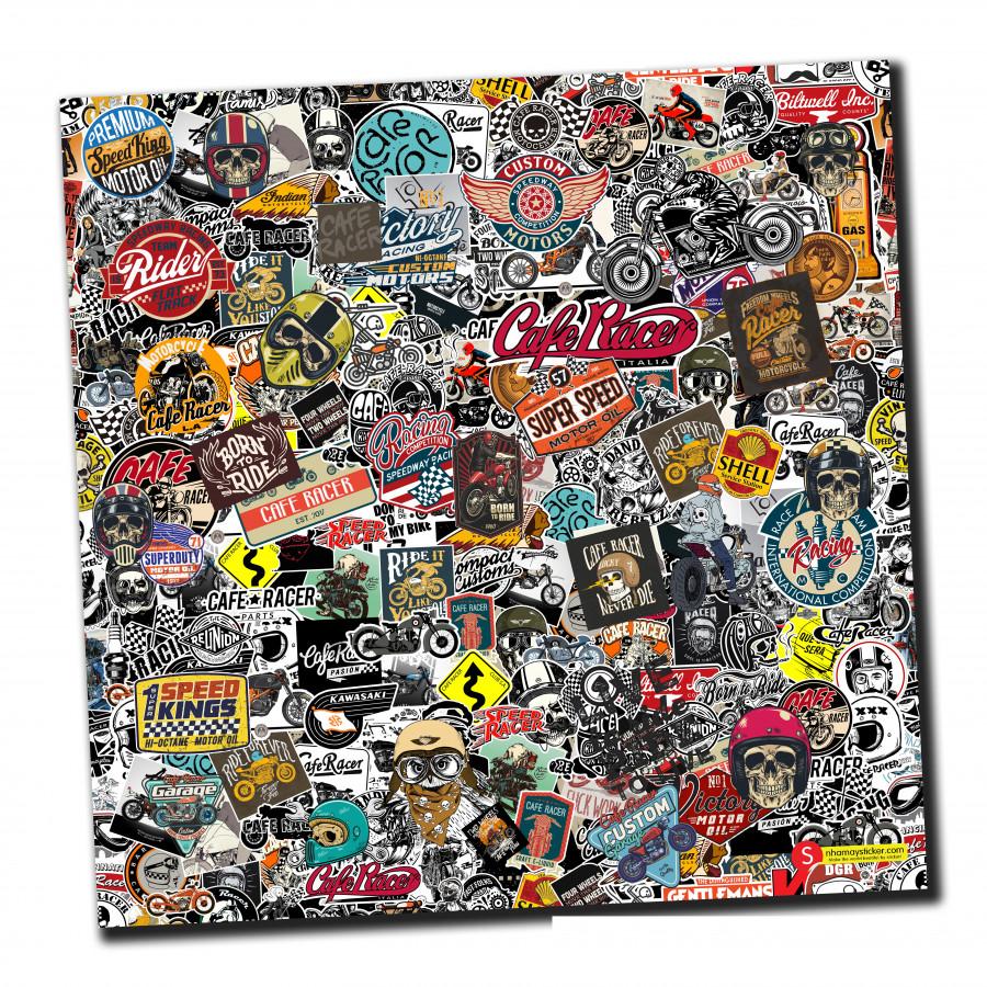 Sticker bomber hình dán nguyên tấm 50x50cm chủ đề - Cafe Racer - 807511 , 9113757810301 , 62_14501909 , 150000 , Sticker-bomber-hinh-dan-nguyen-tam-50x50cm-chu-de-Cafe-Racer-62_14501909 , tiki.vn , Sticker bomber hình dán nguyên tấm 50x50cm chủ đề - Cafe Racer